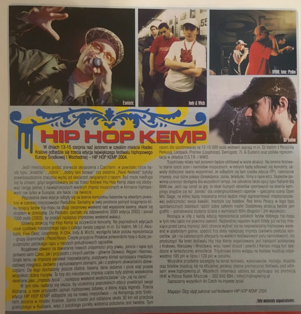 """""""Ślizg"""" sierpień 2004, str. 45"""