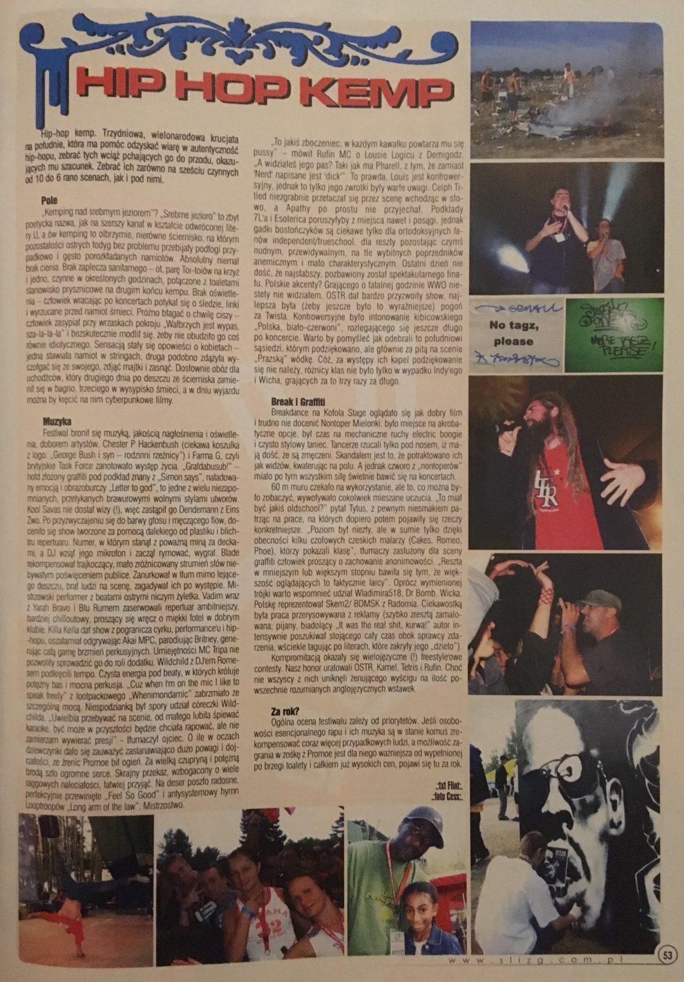 """""""Ślizg"""" paździenik 2004, str. 53"""
